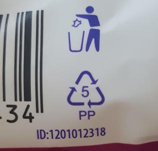 Verbena cukríky - zadná strana - označenie separácie