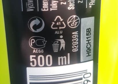 Energetický nápoj Semtex - oznacenie separácie - 41 Alu - hliník