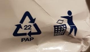 Obal z ovsených vločiek - označenie separácie - 22 pap