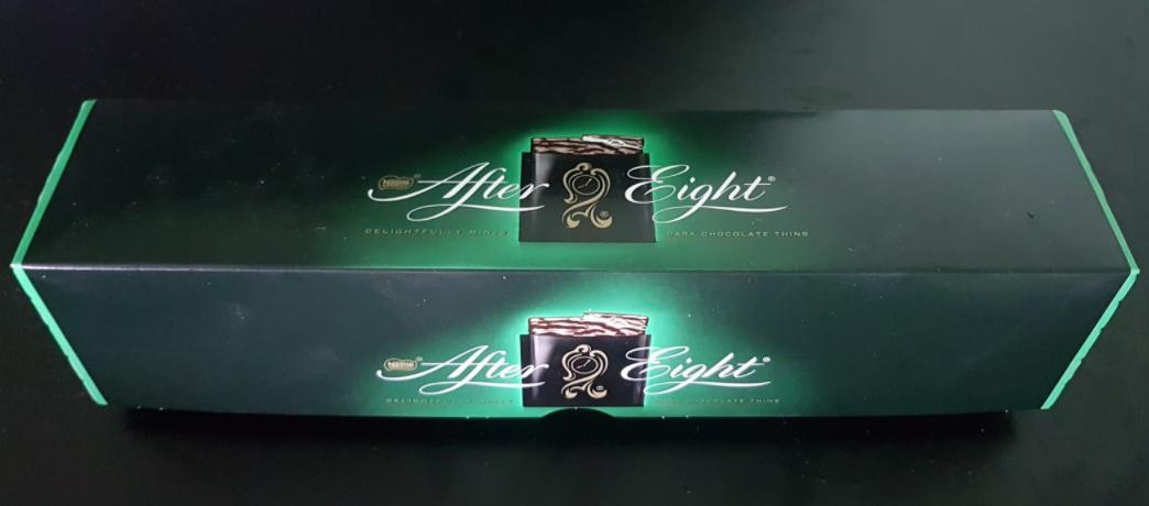 Ako recyklovať/triediť after eight čokoláda