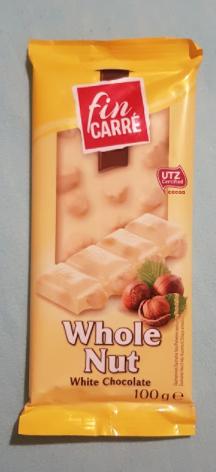 Ako recyklovať/triediť whole nut white chocolate - fin carre