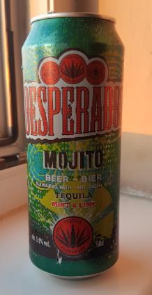 Ako recyklovať/triediť pivo desperados mojito special lager light beer with tequila flavour